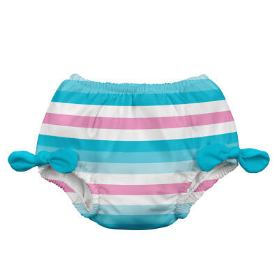 Classic Bow Swimsuit Bottom w/Built-in Reusable Absorbent Swim Diaper-Aqua St...