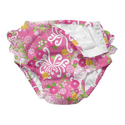 Mix and Match Ultimate Ruffle Snap Swim Diaper - Light Pink Mum Garden