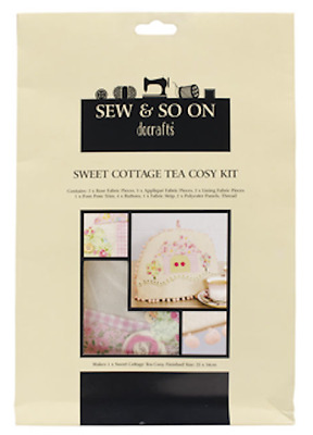 DOCRAFTS Sew & So On SWEET COTTAGE Sew Your Own Applique TEA COSY KIT New