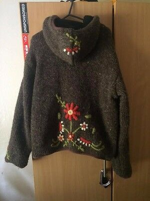 Festival Knitted Embroidered Hippy Jumper/ Size M