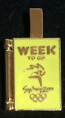 Sydney 2000 Olympic Pins - 1 WEEK TO GO PIN