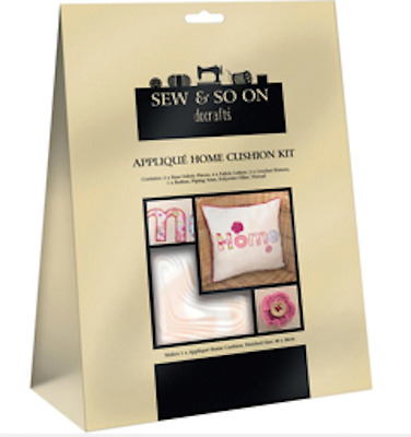 DOCRAFTS Sew & So On HOME CUSHION Sew Your Own Applique  KIT New