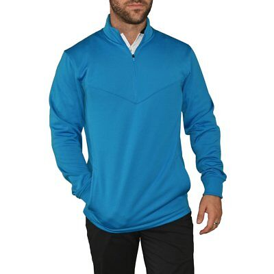 Nike Golf 1/2 Zip Therma Fit Golf Cover Up - LT Blue