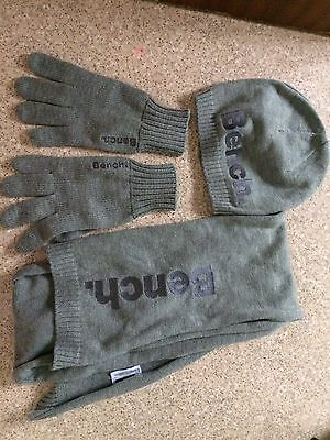 Bench Men's Winter Hat Scarf Glove Set