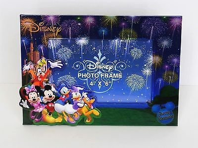Disney Mickey Mouse Minnie Goofy Donald Daisy Pluto Picture Photo Frame 4x6 PDS