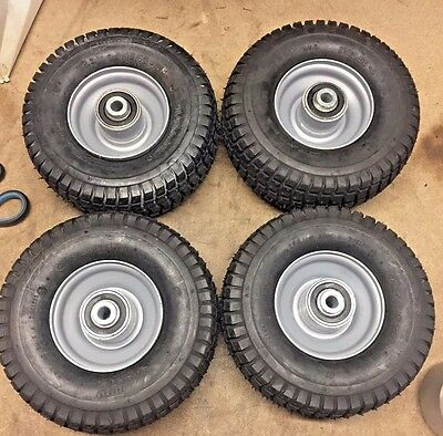 4 x Tyre and Wheel 9 x 3.50- 4 Tire 9 x 3.5-4 Petrol scooter Go Kart Lawnmower