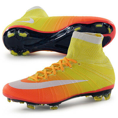 WMNS Nike Mercurial Superfly FG SZ 8.5 Mango Yellow Soccer Cleats 718753-818