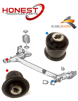 For PEUGEOT 307 2001> REAR AXLE SUSPENSION SUBFRAME BUSHES X2 By Karlmann New