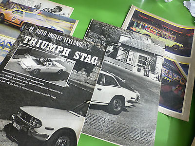 TRIUMPH STAG LEYLAND 4 PAGES+ CUP TRANS-AMERICAN 6PG ARGENTINA SPANISH 1970 see!