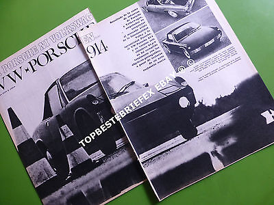 Volkswagen porsche 914 , 3 pages of Argentina article Spanish 1971 note