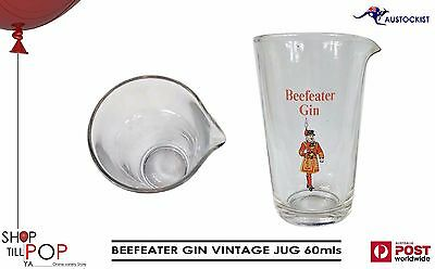 Beefeater Gin Vintage 1970's Glass Jug 600ml Mint Cond' Man Cave Collectables