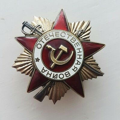 A Soviet Russian Patriotic Order Star Badge, Medal, Numbered 5831031.