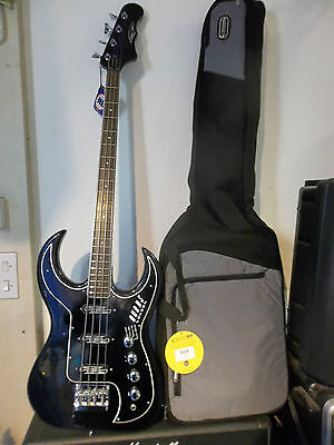 Burns Bison bass in black. New, warranteed with padded gigbag. Free Shipping
