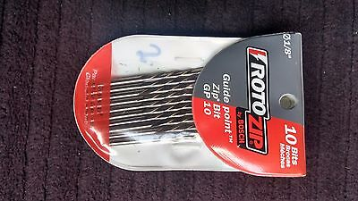 Roto Zip GP10 1/8-Inch Guide Point Drywall Cutting Zip Bit 10-Pack FREE SHIPPING