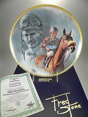 """Fred Stone Old Warriors Horse Collector Plate (#726) 10"""" Original Box W/ Cert"""