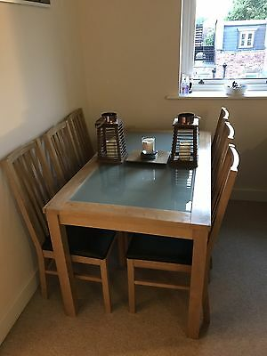 Dining Table And 6 Chairs - Wood & Glass