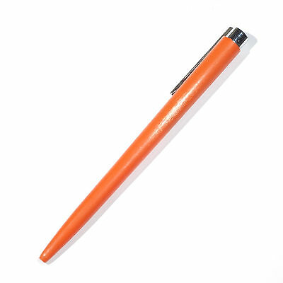Waterman Ballpoint Pen Made in France Orange Plastic Body Push Button Mechanism
