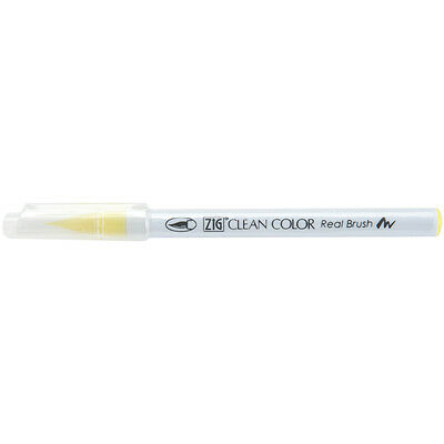 Zig Clean Color Real Brush Marker Lemon Yellow RB6000AT-051