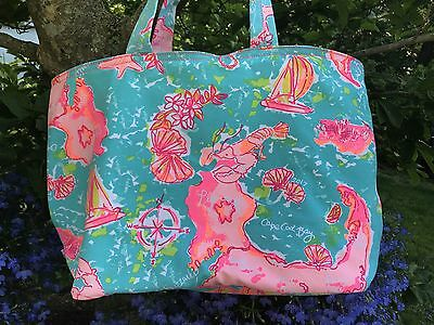 LILLY PULITZER Cape Cod and Islands Nantucket & Martha's Vineyard Tote ~ NWT