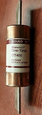 Gould Shawmut One-Time OT400, 400 Amps 250V.A.C. or Less