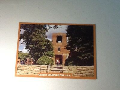 """Post card-""""Oldest church in the USA"""""""