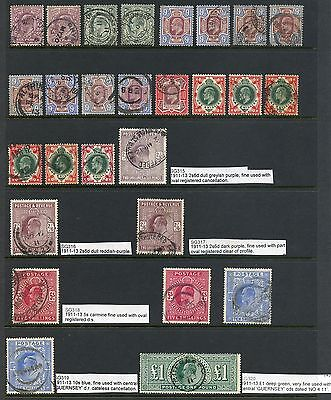1911-13 SUPERB collection Edward VII Harrison + Somerset House MH/used Cat £6358