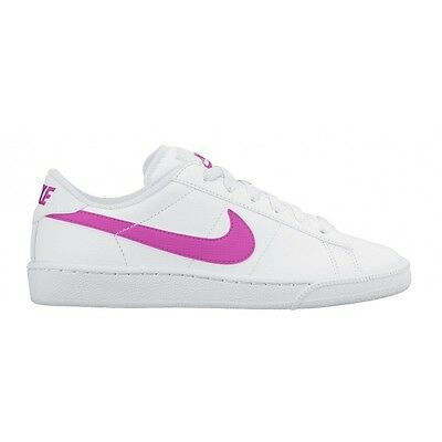 Nike Size 4.5 Girls Classic Sneakers Pink White 719791 Shoes Youth Tennis New