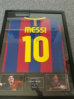 Lionel Messi Back Signed Barcelona 2016-17 Home Shirt In Classic Frame