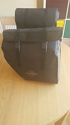 Large Streetline Motorcycle Motorbike Luggage Saddlebags Panniers Black