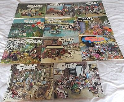 Collectable Assortment Of Giles Cartoon Books 1970's To 1980's
