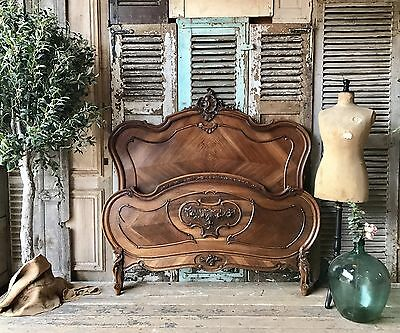 Lovely vintage French Louis XV double bed frame