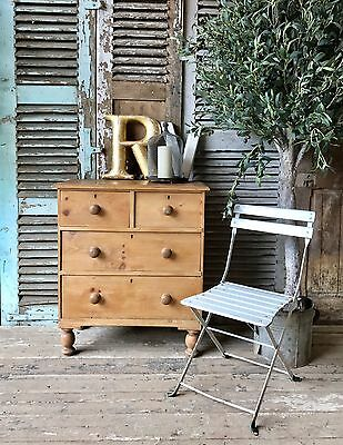 Small Victorian pine chest of drawers