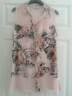 Next Pink Floral Top size 14