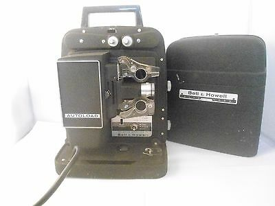 Vintage Bell and Howell Auto Load Projector 256 Prop Working Film Reel Spool