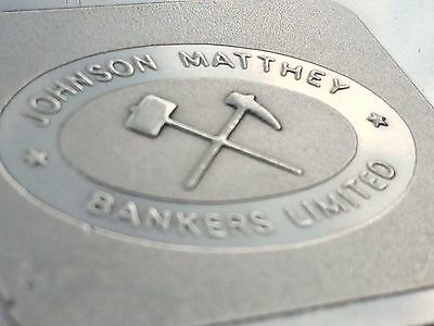Extremely Rare Johnson Matthey Bankers Limited Silver 100G Bar .999