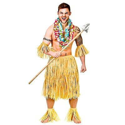 Mens Hawaiian Party Guy Fancy Dress Costume for Hawaii Tropical Beach Magnum Fiv