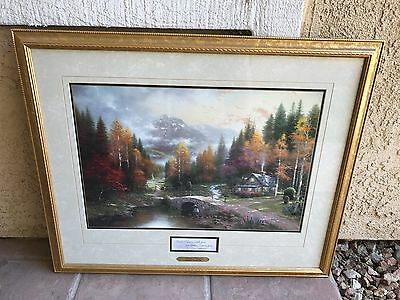 Thomas Kinkade beautiful framed picture