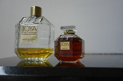 Joya Myrurgia Espana Art Glass Perfume Bottle. Sealed, with perfume plus bonus