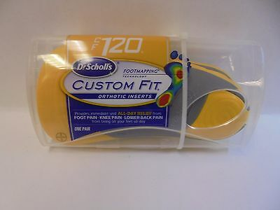 Dr Scholls Custom Fit Orthotic Inserts CF 120  3/4 Length One Pair Brand New