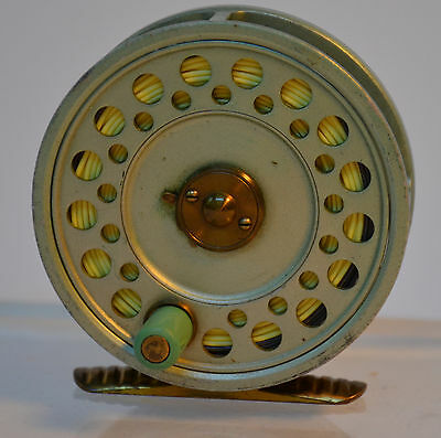 """Vintage Hardy Bros The Princess 3"""" Fly Fishing Reel Made In England w Line"""