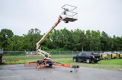 JLG T500J 56' Tow Pro Towable Boom Lift, 2012, Battery Powered, Auto Leveling