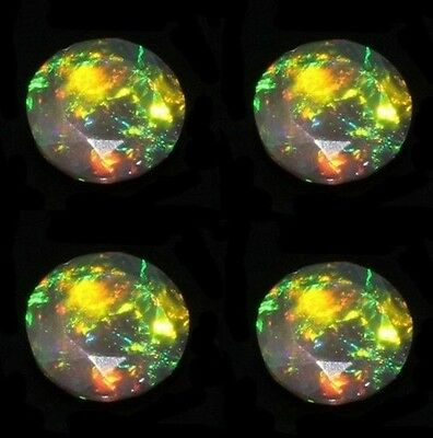 Natural Aaa Ethiopian Fire Black Opal 10 Pcs, 3 Mm Round Faceted Cut, Gemstone