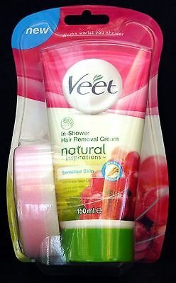 Veet Natural Inspirations 150ml In Shower Hair Removal Cream for Sensitive Skin