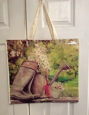 NEW Shopping Bag Reusable Travel Tote Spring Floral Daisy Huge Marshalls NWT