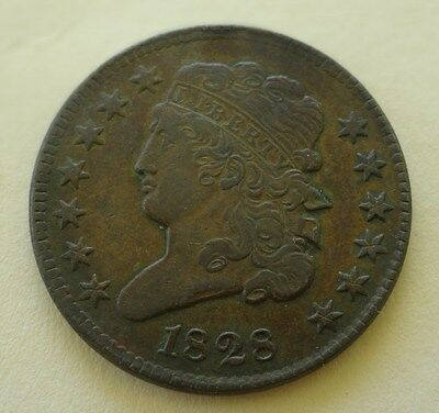1828 Classic Head Half Cent In High Grade  ~  A Real Beauty, Better In Hand!