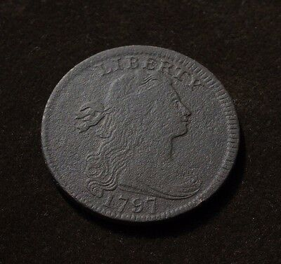 1797 Draped Bust Large Cent, Vg Details  ~  Nice, Original Coin!