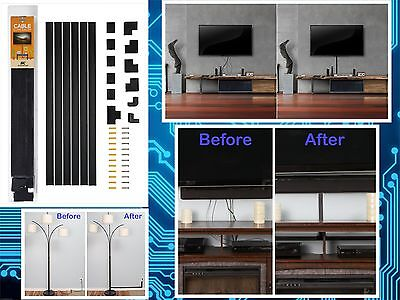 Wall Cable Cover TV Flat Screen Cord Management Raceway Hiding Wire Organizer
