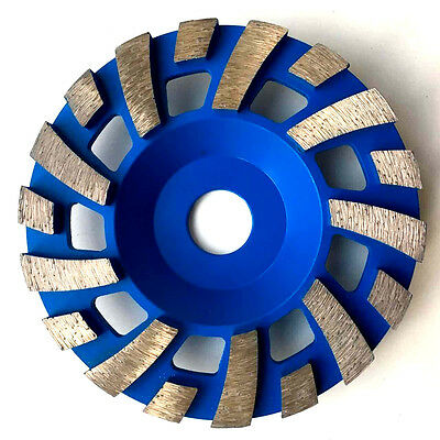 "125mm, 5"" diamond grinding disc, wheel, cup, turbo rows for concrete, stone"