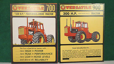 Versatile Tractor brochures ( 2 )  on Models  700 4WD and 900 4WD, both mint.