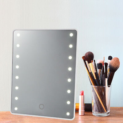 Touch LED Illuminated Make Up Cosmetic Vanity Mirror Tabletop/Wall Mounted HS932